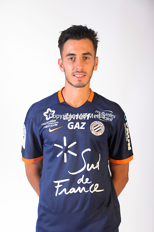 Killian Sanson during the photocall of Montpellier for new season of Ligue 1 on September 27th 2016 in Montpellier<br /> Photo : Mhsc / Icon Sport