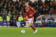 Joe Worrall on the ball during the EFL Sky Bet Championship match between Nottingham Forest and Middlesbrough at the City Ground, Nottingham, England on 10 December 2019.