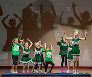 Garden Oaks Montessori students perform during a stop of the Listen & Learn tour at Black Middle School, September 20, 2016.