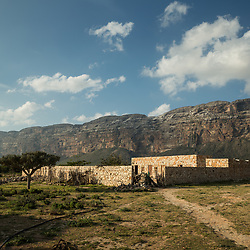 Dec. 25, 2014 - Socotra, Yemen. A house in Neet. More then 600 villages varying in size are spread across the island.  © Nicolas Axelrod / Ruom
