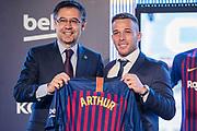Josep Maria Bartomeu president of FC Barcelona at the presentation of Arthur Melo from Brazil on July 11, 2018 at Camp Nou stadium in Barcelona, Spain - Photo Xavier Bonilla / Spain ProSportsImages / DPPI / ProSportsImages / DPPI