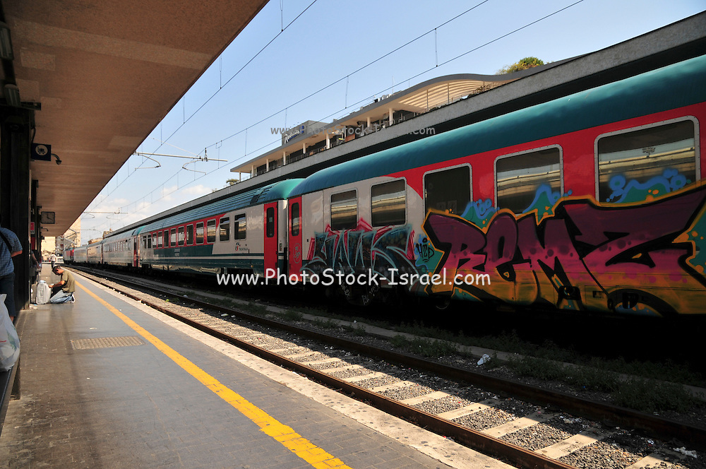 Rome, Italy Tiburtina train station. A blaze at Tiburtina station of Rome's main railway stations Sunday (24/7/11) forced cancellation or long delays for trains along the nation's major north-south routes passing through the capital.