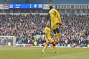 Leeds United Defender, Souleymane Bamba celebrates a goal during the Sky Bet Championship match between Blackburn Rovers and Leeds United at Ewood Park, Blackburn, England on 12 March 2016. Photo by Mark Pollitt.
