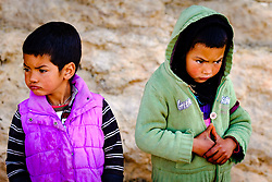 Portrait of nomadic children in the Dades Valley in southern Morocco, North Africa<br /> <br /> (c) Andrew Wilson | Edinburgh Elite media