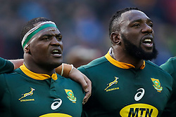 Chiliboy Ralepelle with Tendai Mtawarira of South Africa - Mandatory by-line: Steve Haag/JMP - 23/06/2018 - RUGBY - DHL Newlands Stadium - Cape Town, South Africa - South Africa v England 3rd Test Match, South Africa Tour