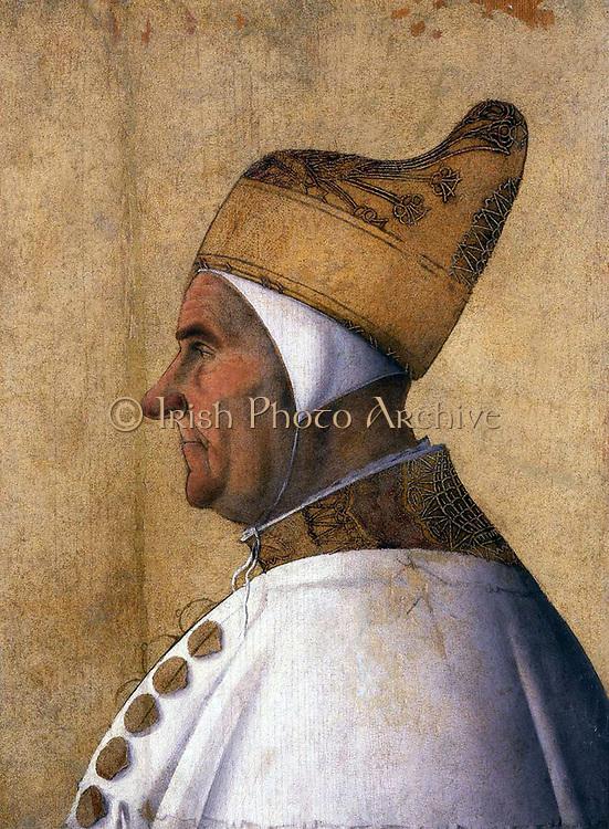 Gentile  Bellini, Portrait of Doge Giovanni Mocenigo. Tempera on panel, 63 x 46 cm Museo Correr,  c. 1478