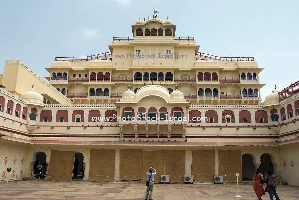 India, Rajasthan, Jaipur Mubarak Mahal sandstone palace in the City Palace complex