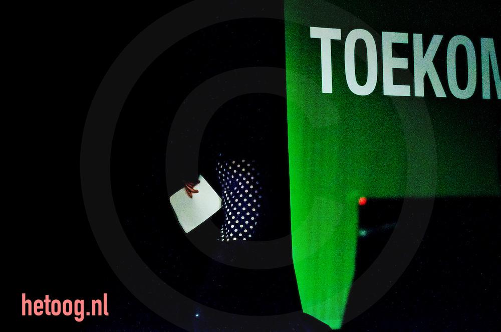 nedrland,utrecht 05feb2011 Femke Halsema neemt afscheidt op het congres van groen links in utrecht. Hier verlaat zij het toneel.