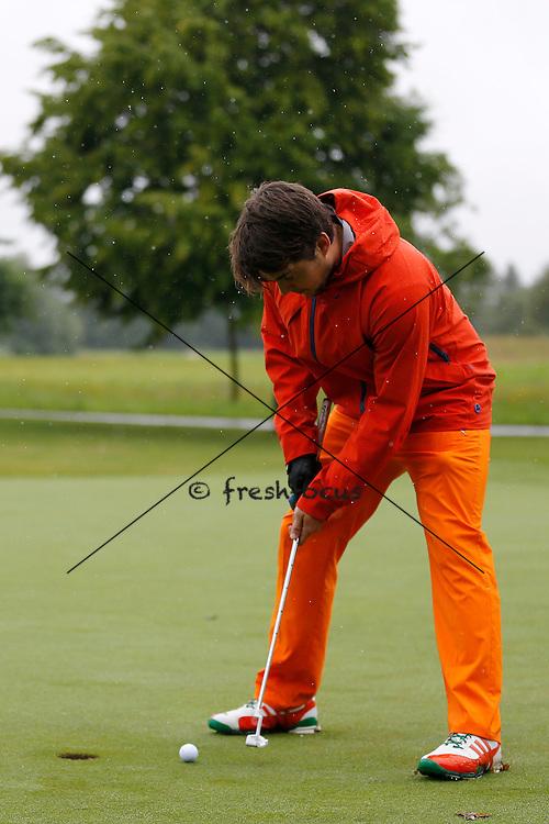 30.07.2014; Luterbach; Eishockey - Swiss Ice Hockey Golf Trophy 2014;   Robin Grossmann(Christian Pfander/freshfocus)