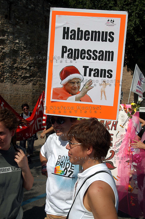 ROMA 16 GIUGNO 2007.GAY PRIDE 2007