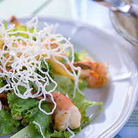 Shrimp salad at Banana Beach lounge and beach bar in Santa Teresa, Costa Rica.