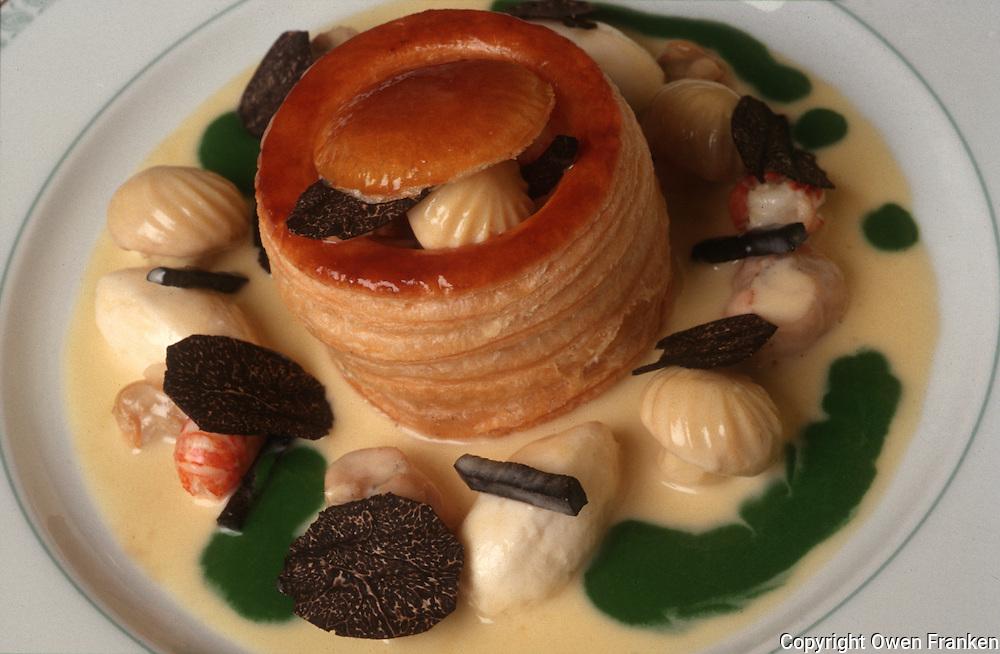 """Restaurant Alain Ducasse,  Paris..""""Vol au Vent,"""" with black truffles..© Owen Franken"""