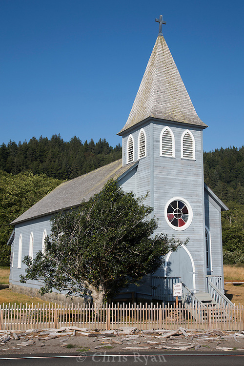 Catholic church on the Columbia River, Washington
