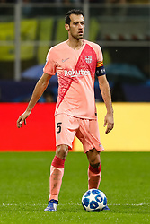 November 7, 2018 - Milan, Italy - Sergio Busquets of Barcelona in action during the Group B match of the UEFA Champions League between FC Internazionale and FC Barcelona on November 6, 2018 at San Siro Stadium in Milan, Italy. (Credit Image: © Mike Kireev/NurPhoto via ZUMA Press)
