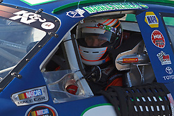 ROSEVILLE, CA - OCTOBER 13: Markus Niemela, driver of the #99 Bad Piggies Toyota sits in his car during practice for the NASCAR K&N Pro Series West Toyota/NAPA 150 at the All American Speedway on October 13, 2012 in Roseville, California. (Photo by Jason O. Watson/Getty Images for NASCAR) *** Local Caption *** Markus Niemela