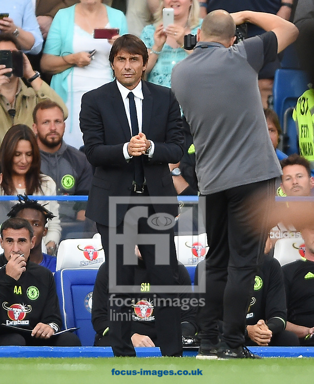 Chelsea manager Antonio Conte during the Premier League match at Stamford Bridge, London<br /> Picture by Daniel Hambury/Focus Images Ltd +44 7813 022858<br /> 15/08/2016