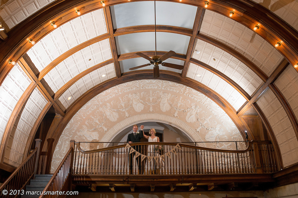 Jeff & Paige pictured at their wedding at Sacred Heart Catholic Church and Station 67 in Columbus, Ohio.
