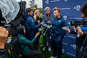 LA Rams Head Coach Sean McVay during the training session for Los Angeles Rams at the Los Angeles Memorial Coliseum, Los Angeles, USA on 25 October 2019.