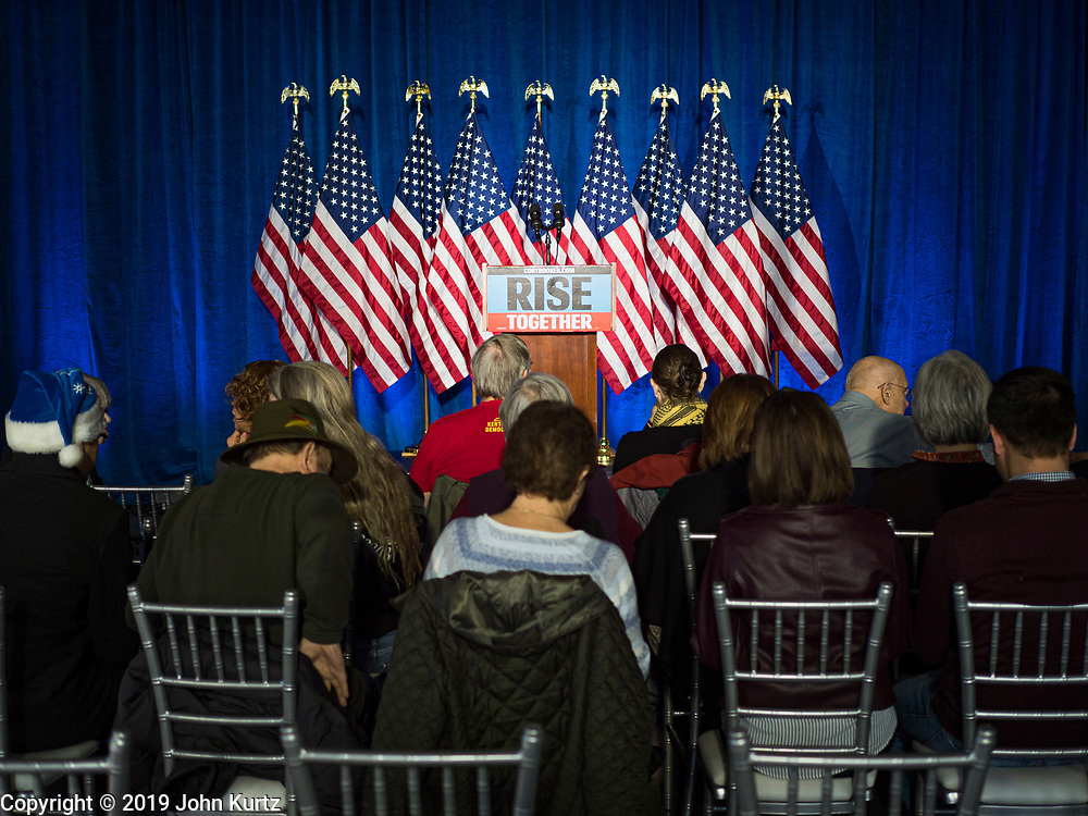 05 DECEMBER 2019 - DES MOINES, IOWA: Senator Booker is running to be the Democratic nominee for the US Presidency in 2020. Iowa hosts the first selection event of the presidential election season. The Iowa caucuses are February 3, 2020.                PHOTO BY JACK KURTZ