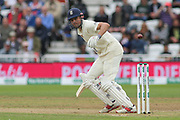 Alastair Cook of England guides the ball to third man during the 3rd International Test Match 2018 match between England and India at Trent Bridge, West Bridgford, United Kingdon on 19 August 2018.