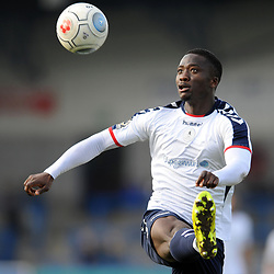 TELFORD COPYRIGHT MIKE SHERIDAN 30/3/2019 - Dan Udoh of AFC Telford during the Vanarama National League North fixture between AFC Telford United and Blyth Spartans at the New Bucks Head.