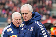 Ipswich Town manager Mick McCarthy during the Sky Bet Championship match between Bristol City and Ipswich Town at Ashton Gate, Bristol, England on 13 February 2016. Photo by Shane Healey.