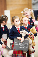 21/01/2016  Eliza Dinneen Carnmore NS with Skippy and Sarah Killilea Carnmore NS with Charlie  at the 11th Annual Teddy Bear Hospital in NUI, Galway where Med students get used to dealing with kids and Kids get used to a hospital setting with their sick teddy bears.Photo:Andrew Downes