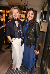 Left to right, Olivia Fournier and Nathalie L'Eplattenier at a party to celebrate the launch of Hans' Bar & Grill, 11 Cadogan Gardens, Chelsea, London, England. 07 June 2018.