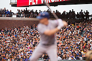 San Francisco Giants fans watch New York Mets right fielder Jay Bruce (19) at bat at AT&T Park in San Francisco, Calif., on August 21, 2016. (Stan Olszewski/Special to S.F. Examiner)