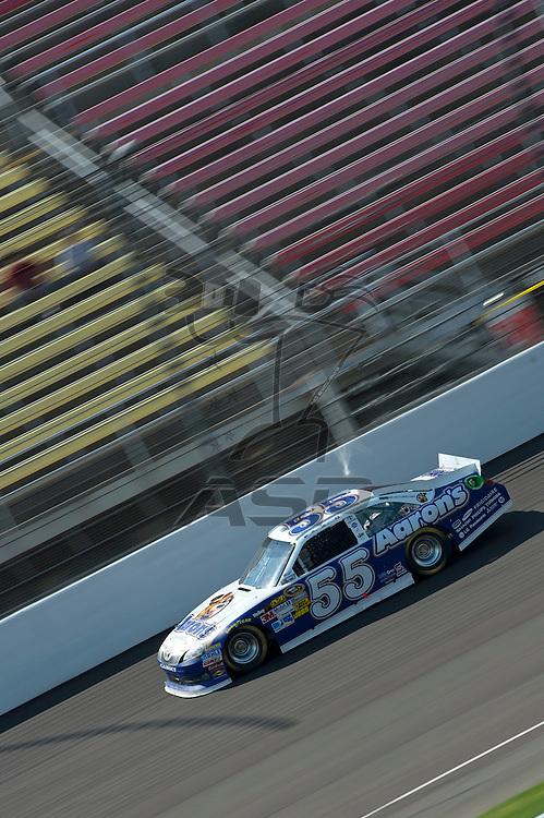 Brooklyn, MI - JUN 15, 2012: Mark Martin (55) driving during a practice session for the Quicken Loans 400, at Michigan International Speedway, Brooklyn, MI.