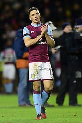 James Chester of Aston Villa applauds the away support  - Mandatory by-line: Dougie Allward/JMP - 14/01/2017 - FOOTBALL - Molineux - Wolverhampton, England - Wolverhampton Wanderers v Aston Villa - Sky Bet Championship
