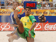 Football-FIFA Beach Soccer World Cup 2006 - Group A-BRA_JPN - Andre-Brazil- controls the ball- Rio de Janeiro - Brazil 05/11/2006<br />Mandatory credit: FIFA/ Marco Antonio Rezende.