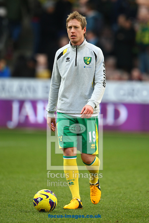 Picture by Paul Chesterton/Focus Images Ltd +44 7904 640267.09/02/2013.Luciano Becchio of Norwich before the Barclays Premier League match at Carrow Road, Norwich.