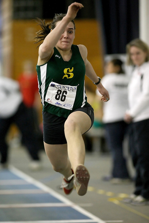 Windsor, Ontario ---14/03/09--- Audrey Morin Lemay of  Universite de Sherbrooke competes in the Women's Triple Jump at the CIS track and field championships in Windsor, Ontario, March 14, 2009..Sean Burges Mundo Sport Images