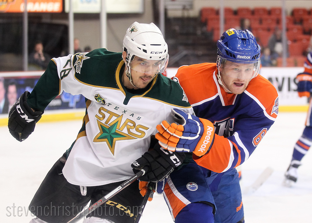 December 20, 2013: The Oklahoma City Barons play the Texas Stars in an American Hockey League game at the Cox Convention Center in Oklahoma City.