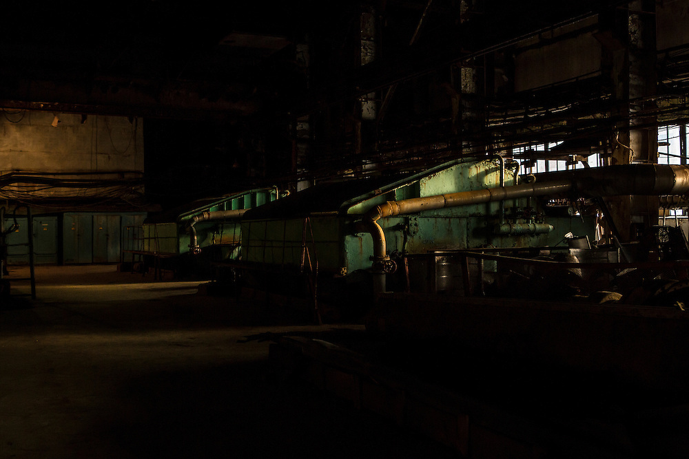 Inside the Baikalsk Pulp and Paper Mill on Friday, October 25, 2013 in Baikalsk, Russia.