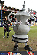 Picture by David Horn/Focus Images Ltd +44 7545 970036.16/02/2013.The FA Cup mascot visits Luton Town before their tie with Millwall in the The FA Cup match at Kenilworth Road, Luton.
