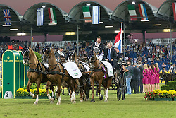 De Ronde Koos, (NED), Alino, Palero, Santana, Ulano<br /> Driving competition Prizegiving<br /> European Championships - Aachen 2015<br /> © Hippo Foto - Dirk Caremans<br /> 22/08/15