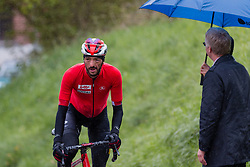 Jelle Vanendert (BEL) of Lotto Soudal (BEL,WT,Ridley) at C&ocirc;te de Stockeu during the 2019 Li&egrave;ge-Bastogne-Li&egrave;ge (1.UWT) with 256 km racing from Li&egrave;ge to Li&egrave;ge, Belgium. 28th April 2019. Picture: Pim Nijland | Peloton Photos<br /> <br /> All photos usage must carry mandatory copyright credit (Peloton Photos | Pim Nijland)