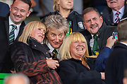 Rod Stewart poses for selfies in the crowd before the UEFA Europa League group stage match between Celtic FC and Rosenborg BK at Celtic Park, Glasgow, Scotland on 20 September 2018.