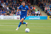 AFC Wimbledon defender Luke O'Neill (2) dribbling during the EFL Sky Bet League 1 match between AFC Wimbledon and Wycombe Wanderers at the Cherry Red Records Stadium, Kingston, England on 31 August 2019.