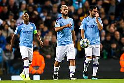 Sergio Aguero, Ilkay Gundogan and Fernandinho of Manchester City cut dejected figures - Mandatory by-line: Robbie Stephenson/JMP - 22/10/2019 - FOOTBALL - Etihad Stadium - Manchester, England - Manchester City v Atalanta - UEFA Champions League Group Stage