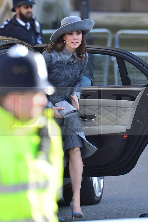 © Licensed to London News Pictures. 14/03/2016. London, UK. British Royals arrive at Westminster Abbey in London to attend a service to mark Commonwealth Day 2016.  Photo credit: Ben Cawthra/LNP
