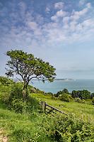 Looking across Sandown Bay towards Culver cliffs from Shanklin, Isle of Wight.
