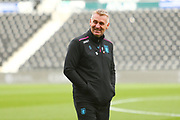 Aston Villa Manager Dean Smith arrives at Pride Park Stadium during the EFL Sky Bet Championship match between Derby County and Aston Villa at the Pride Park, Derby, England on 10 November 2018.