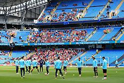 Turkey players warm up in front of their fans - Mandatory byline: Matt McNulty/JMP - 07966386802 - 22/05/2016 - FOOTBALL - Etihad Stadium -Manchester,England - England v Turkey - International Friendly