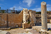 Remains of a headless greek marble statue, Photographed at Caesarea, Israel