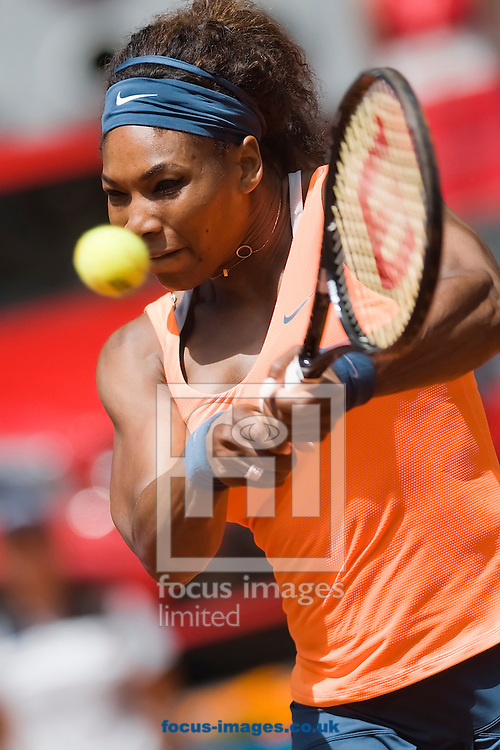 Picture by Marcos Calvo Mesa/Focus Images Ltd +34 600474871.10/05/2013.Serena Williams pictured during the Madrid Open at Manzanares Park Tennis Centre, Madrid.