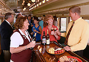 Wine tasting event on a train in Grapevine, Texas