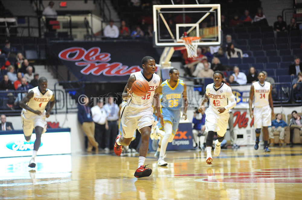 """Ole Miss' guard Jarvis Summers (32) vs. Southern at the C.M. """"Tad"""" Smith Coliseum in Oxford, Miss. on Thursday, November 20, 2014. (AP Photo/Oxford Eagle, Bruce Newman)"""